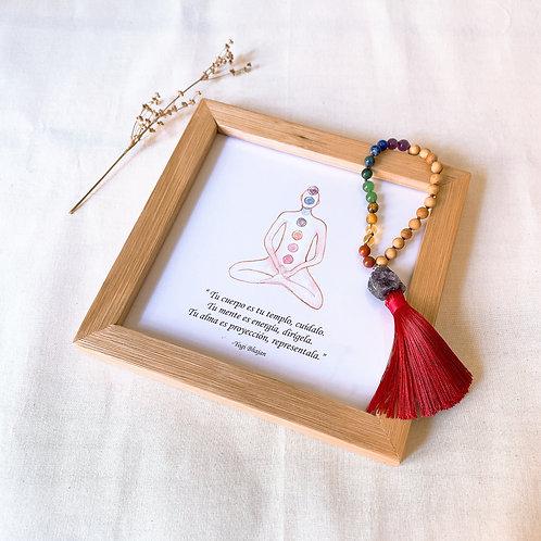 Kit mi primer Altar (Siete Chakras, frase Yogi Bhajan)