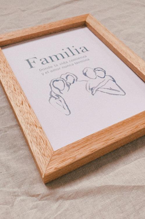 Ilustración minimalista [ Familia ]