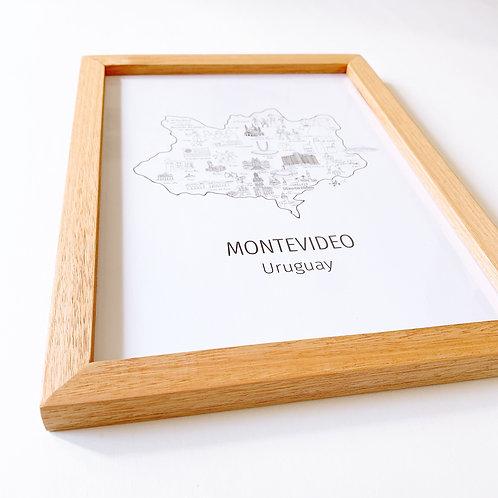 Cuadro mapa de Montevideo