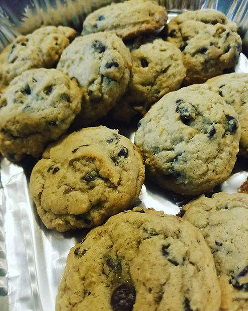 The first batch of cookies are made for