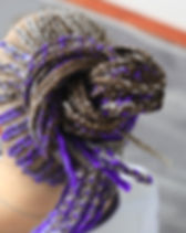 Purple Micro Braids