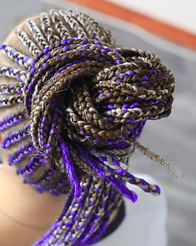 Purple Micro Braids