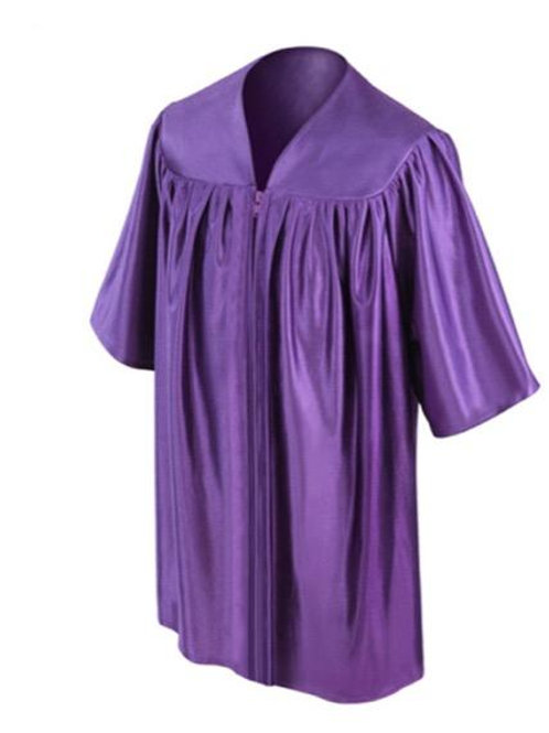 Purple Shiny Child Graduation Gown