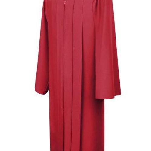 Red Matte  Graduation Gown