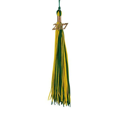 Emerald Green & Gold Double Tassel