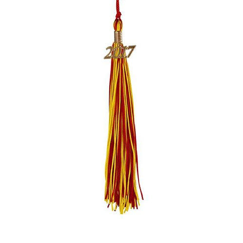 Red & Gold Double Tassel