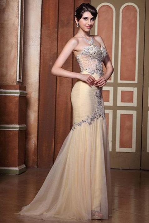 Beaded Sweetheart Neckline Evening Dress (C36144214)