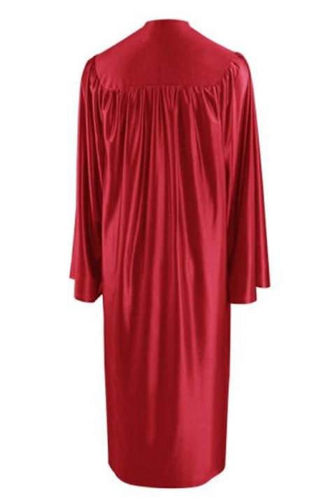 Red Satin Graduation Gown