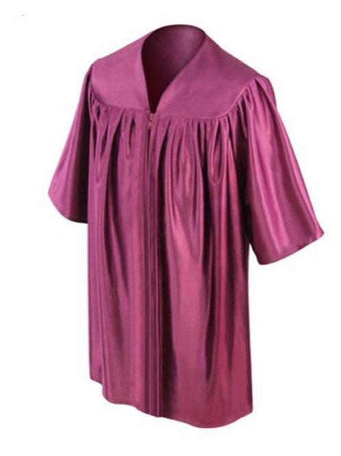 Wine Satin Child's Graduation Gown