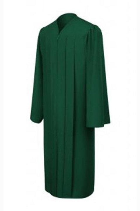 Hunter Green  Graduation Gown