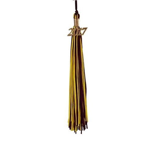 Maroon & Gold Double Tassel