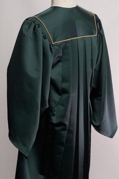 Forrest Green Organist Gown Luxury Satin