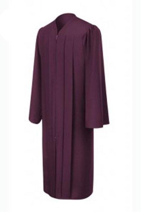 Maroon Matte  Graduation Gown