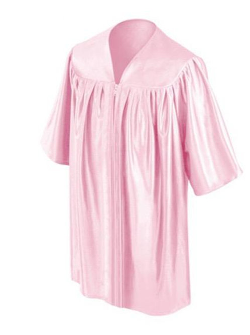 Pink Shiny Child Graduation Gown