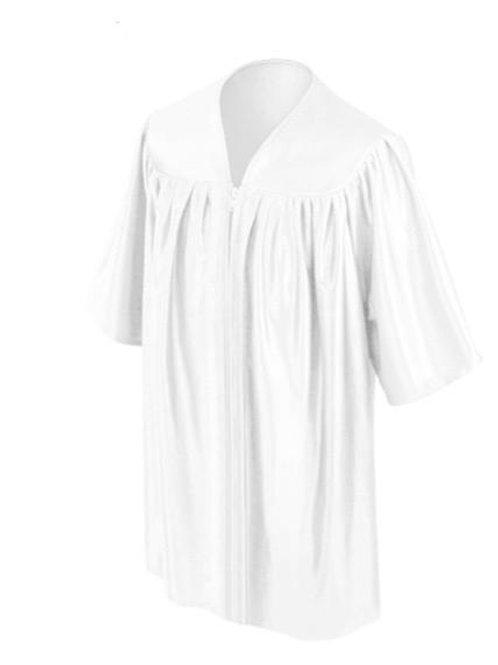 White Satin Child's Graduation Gown