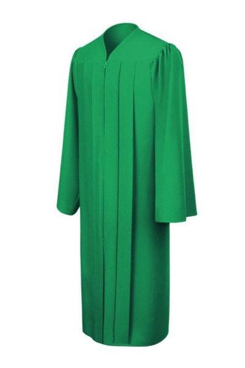 Green Matte Graduation Gown