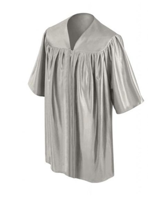 Silver Shiny Child Graduation Gown