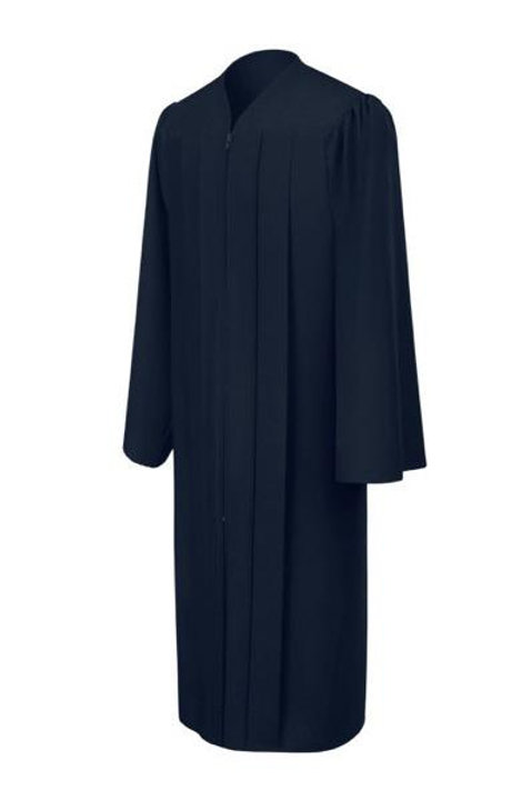 Navy Matte Graduation Gown