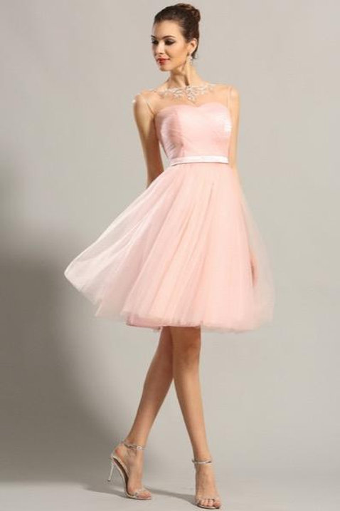 Sleeveless Sweetheart Pink Party Dress Cocktail Dress (04152201)