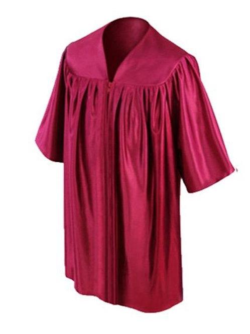 Maroon Satin Child's Graduation Gown