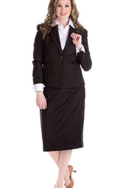 Princess Seam Fitted Blazer Suit