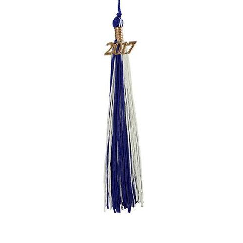 Royal Blue & White Double Tassel