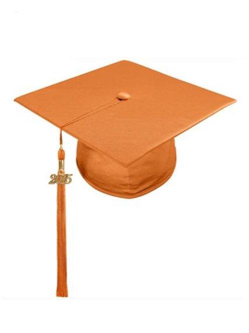 Orange Satin Cap