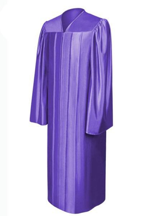 Purple Satin Graduation Gown