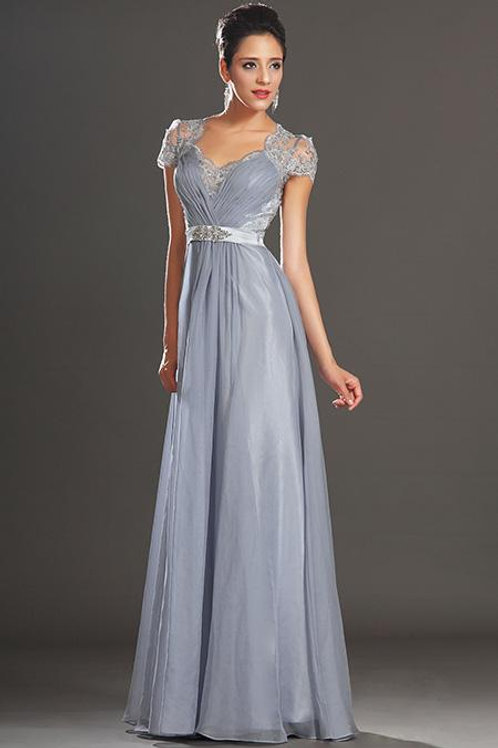 New Adorable Cap Sleeves Lace Evening Dress (02130632)