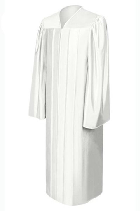 White Satin Graduation Gown