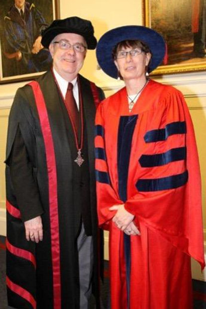 Dalhousie Honorary Doctor Gown Red Tropical W/ Black Lining