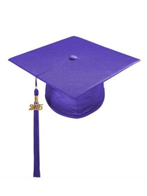 Purple-Satin Cap