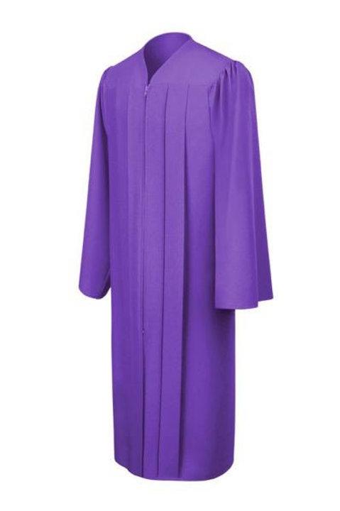 Purple Matte Graduation Gown