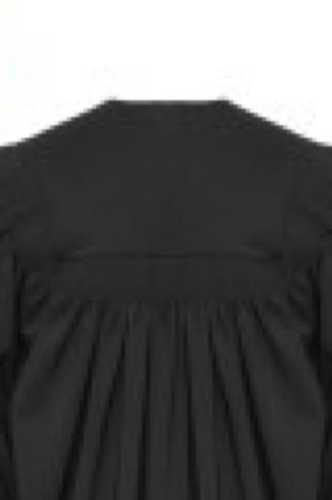 Deluxe Black Fluted Graduation Gown