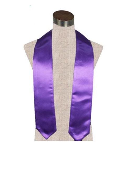 Purple Satin Stole