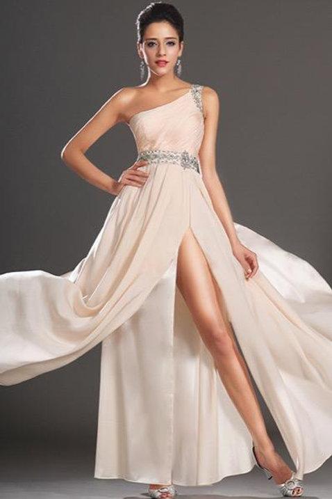 New Arrival Elegant One Shoulder Evening Dress (00133501)