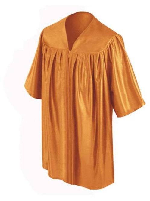 Orange Shiny Child Graduation Gown