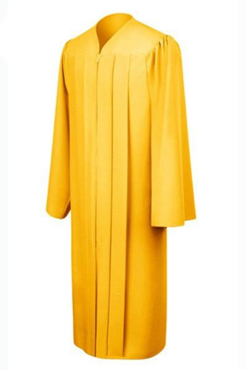 Gold Matte School Gown