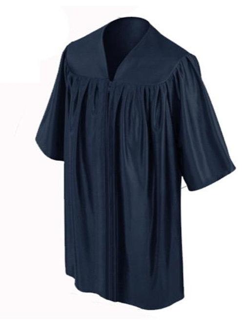 Navy Shiny Child Graduation Gown