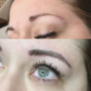 First pic is natural brow, second is aft