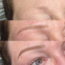 From no brows to bold brows! Our initial