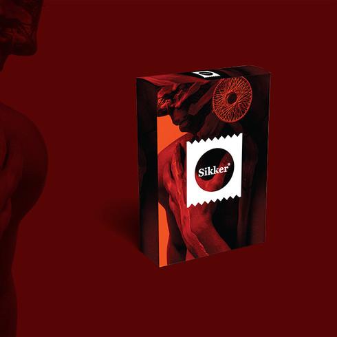 sikkor condoms packaging by Suket Dedhia