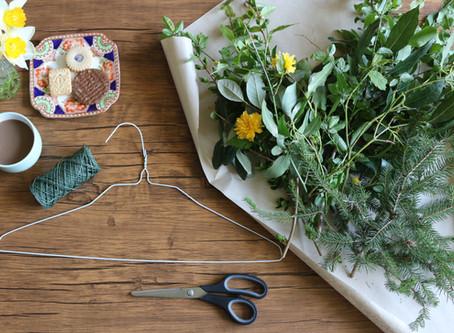 #PinstripesChallenge : Foraged Foliage Wreaths