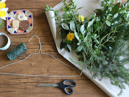 #PinstripesChallenge : Foraged Foliage Wreaths