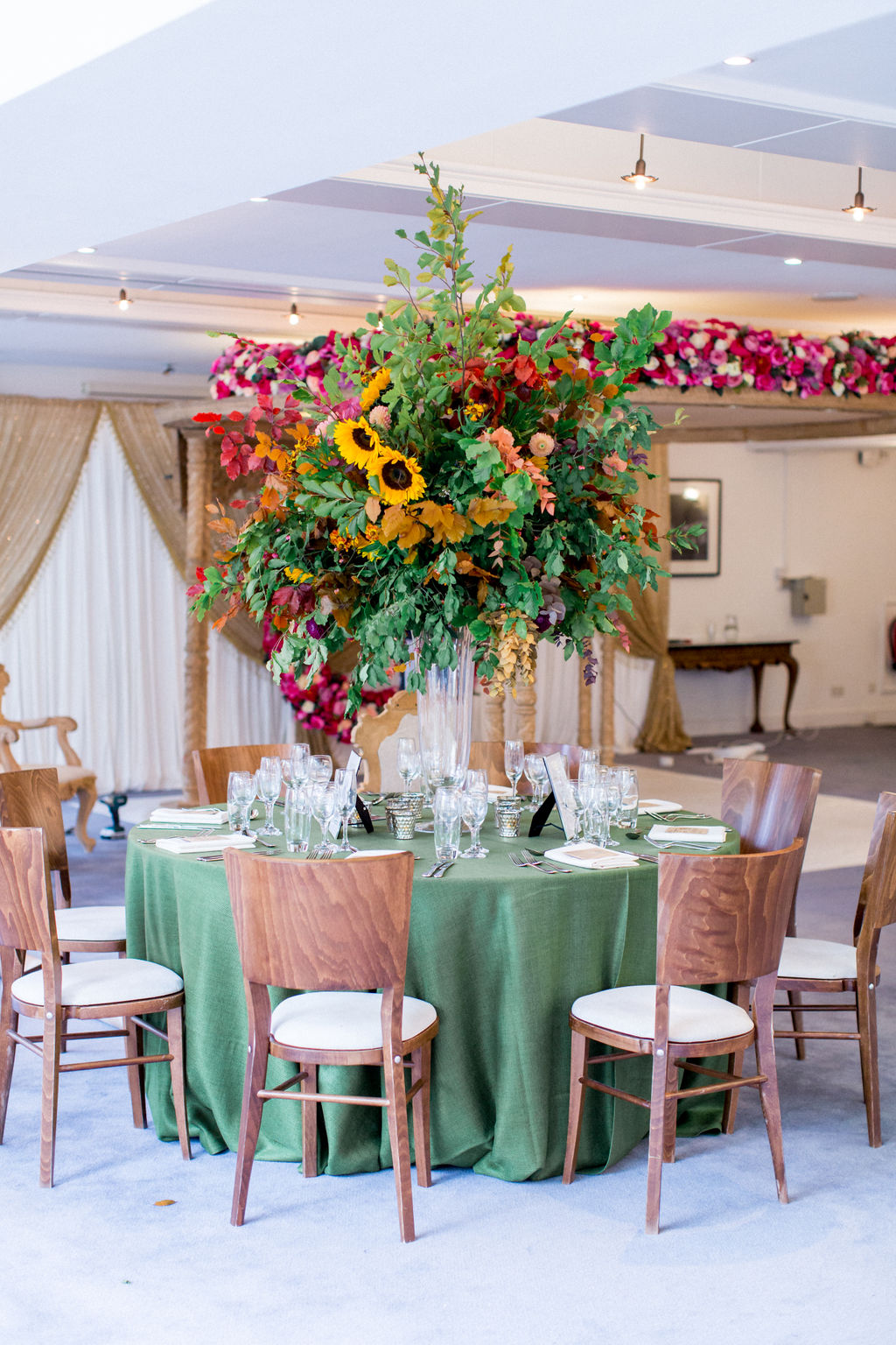 Autumnal Tall Table Centre