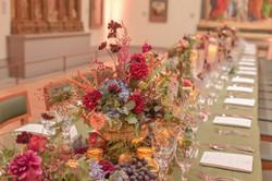 Artistic Rustic Long Table Florals