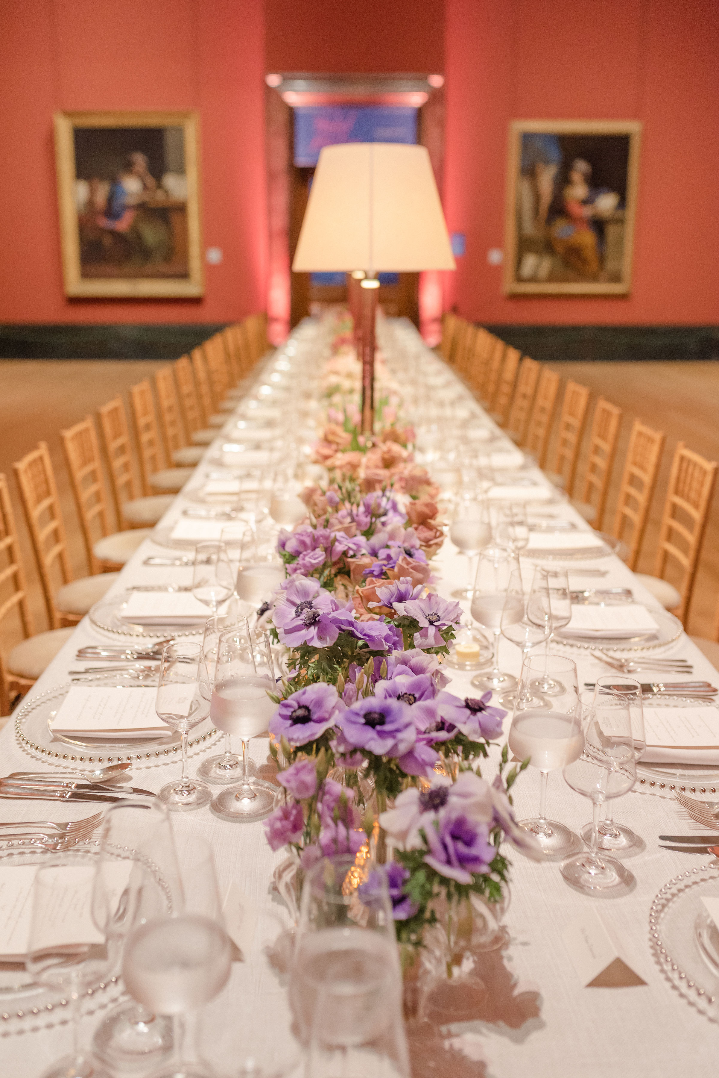 Ombre Pastel Long Table Florals