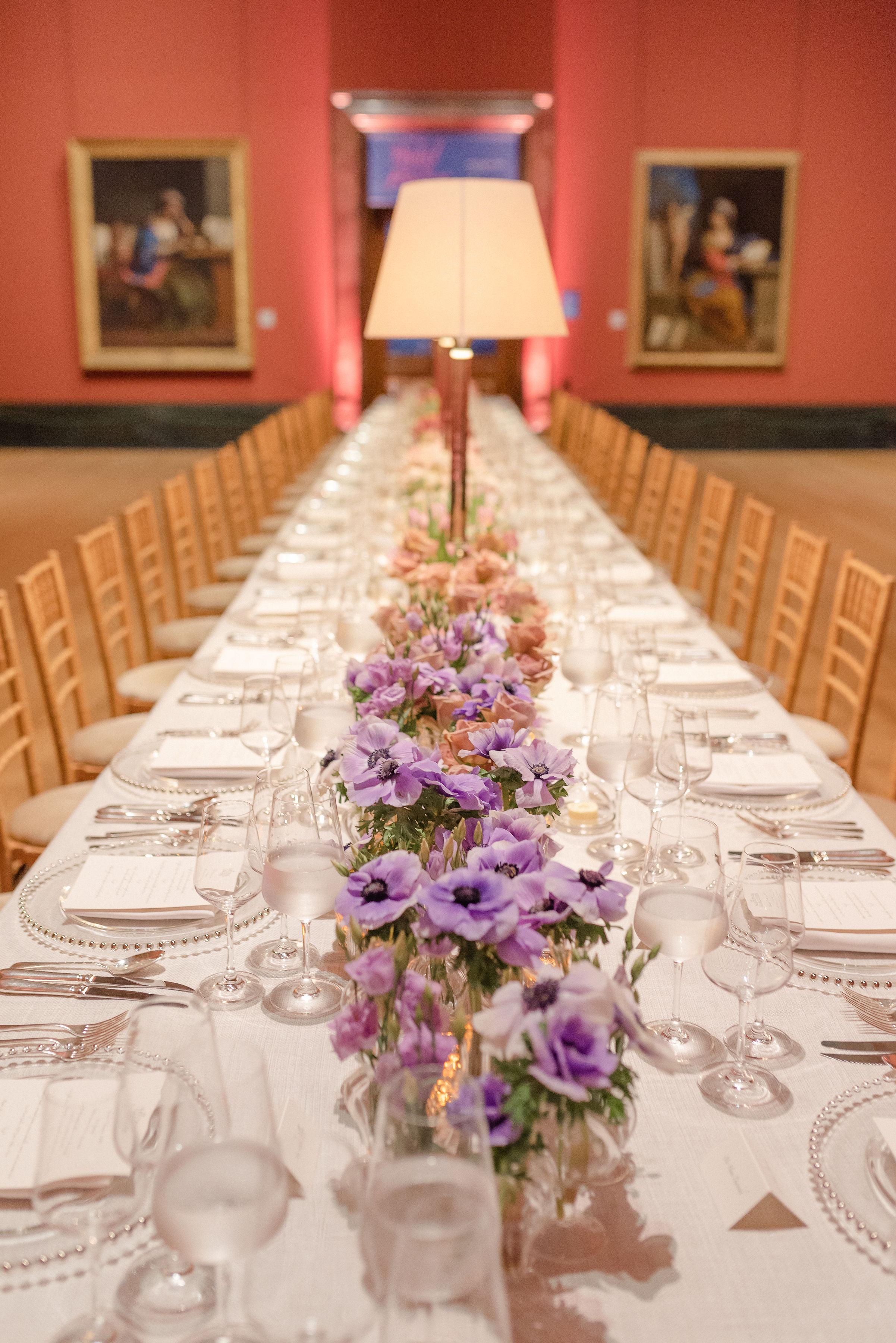Ombre Pastel Long Table Florals