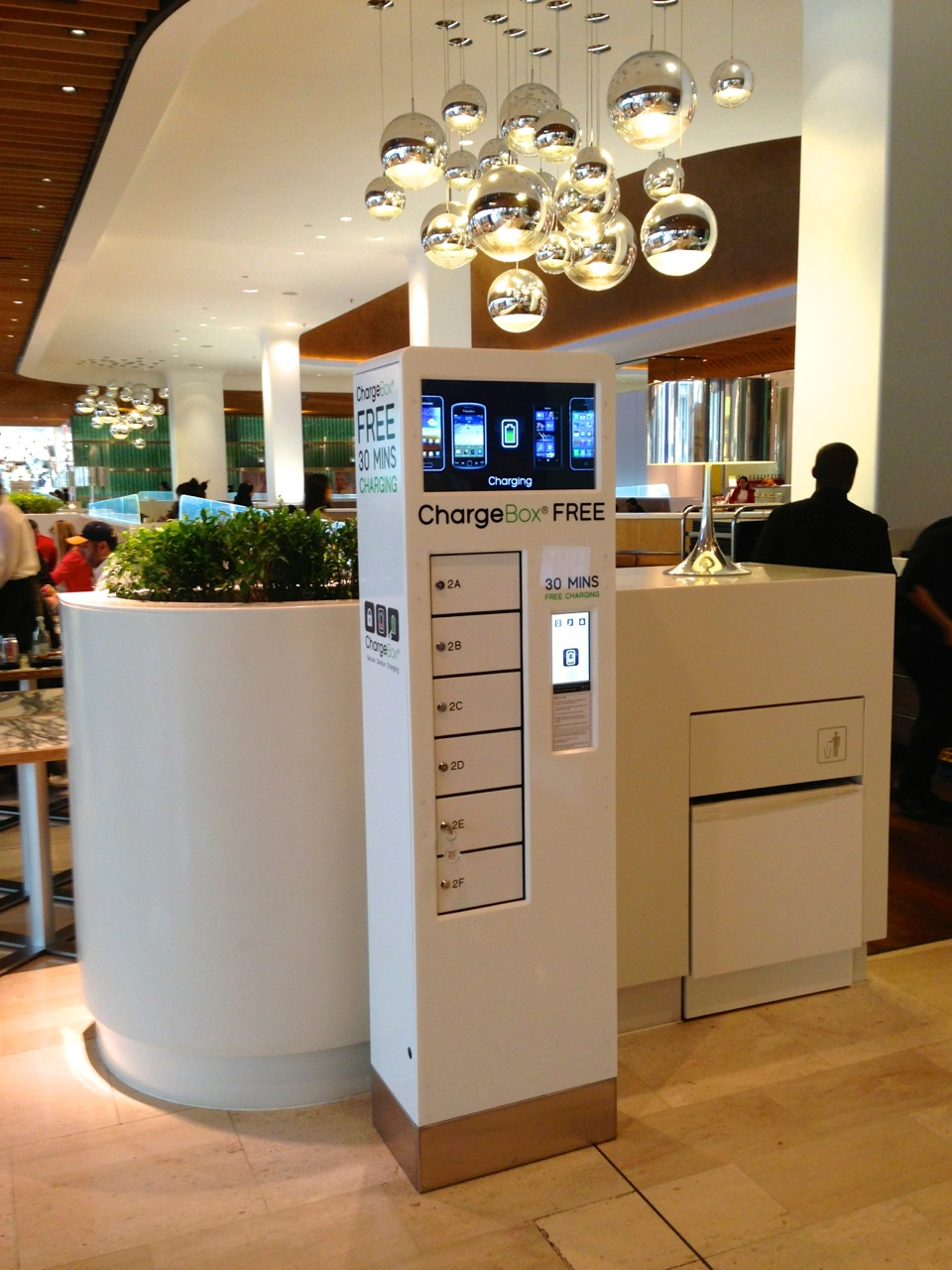 ChargeBox Blanche Welcome Desk