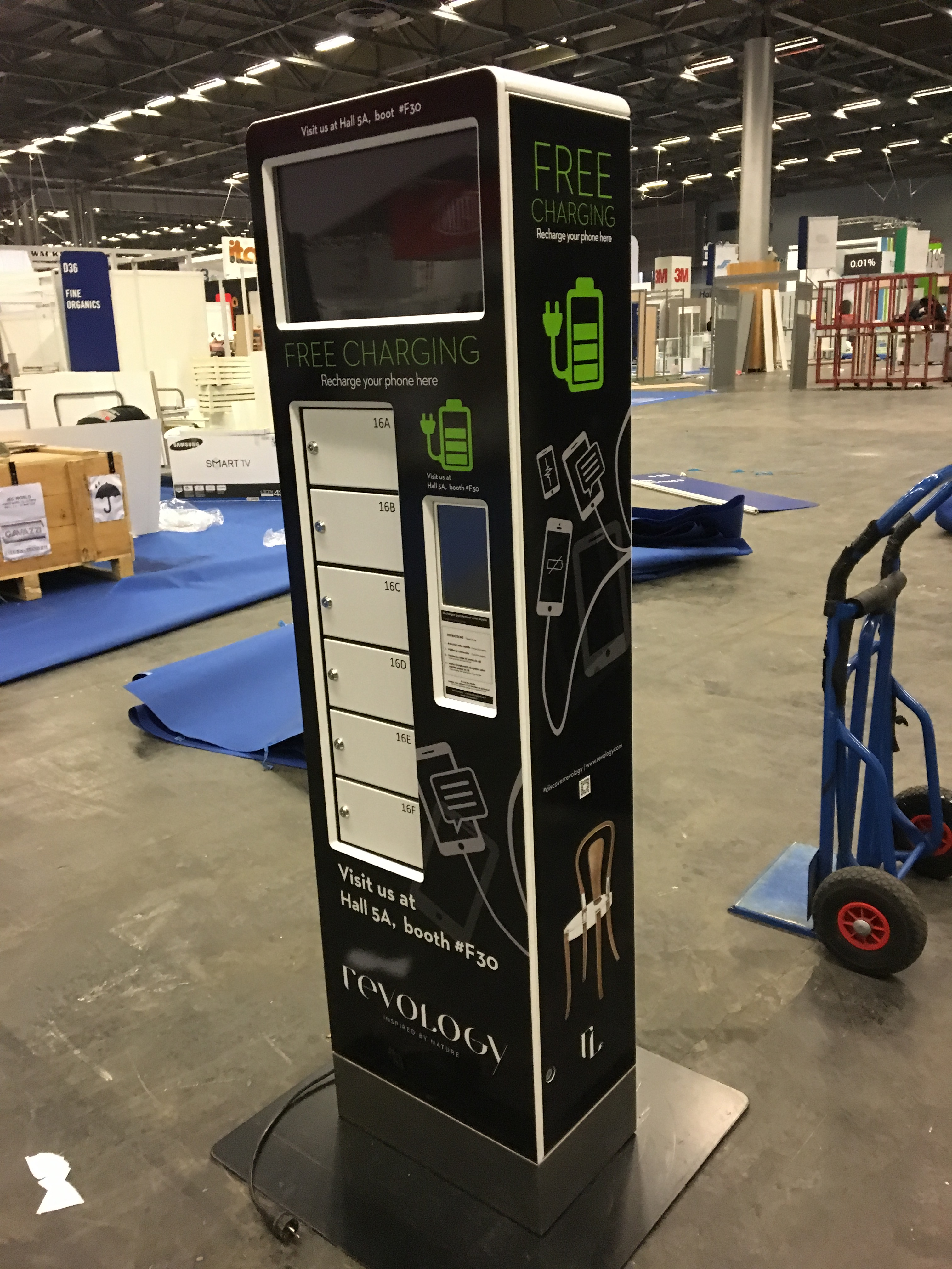 Installation Borne de recharge télé